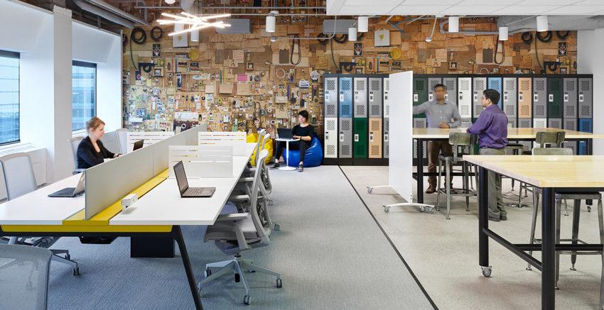 Опен спейс в офисе — современная концепция, позволяющая минимизировать затраты на аренду и обслуживание помещения