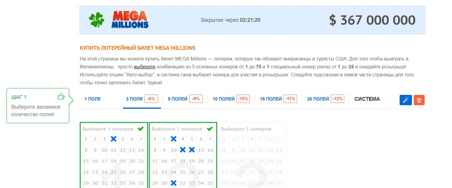Лотерея «Mega Millions»