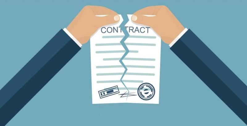 Письмо о расторжении договора оказания услуг в одностороннем порядке составляется при явном нарушении контрагентом условий договора